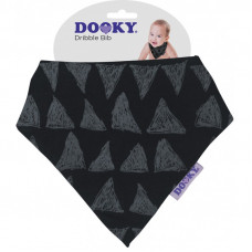 Dooky Dribble Bib - Black Tribal