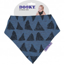 Dooky Dribble Bib - Blue Tribal