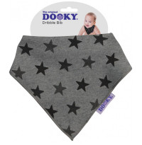 Dooky Dribble Bib - Grey Star