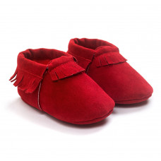 Baby mocassins rood