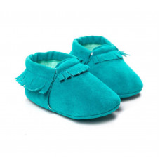 Baby mocassins turquoise