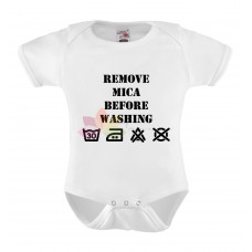 Romper Remove baby before washing